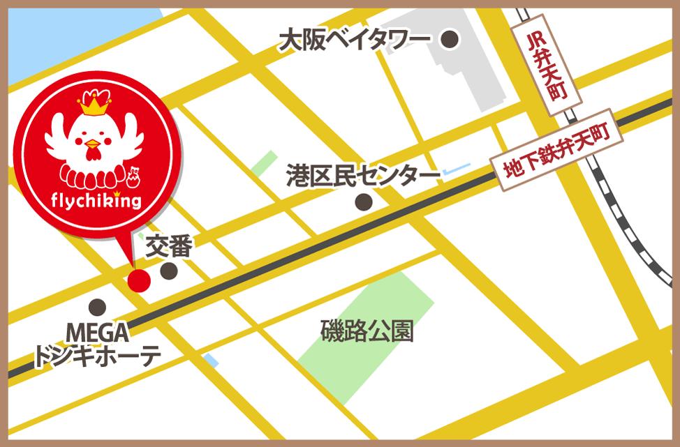 テイクアウト専門店 フライチキング 地図 マップ
